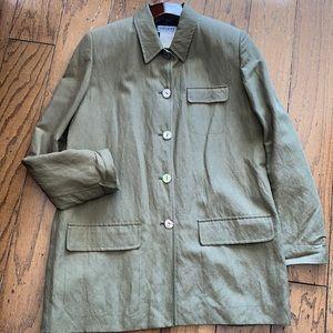 Khaki green linen jacket/blazer OLSEN Sz 8